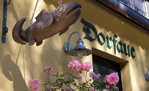 Löcknitz-Forelle - Fischrestaurant Dorfaue in Schöneiche, Foto: Alexandra Pohnke
