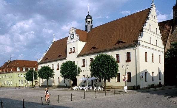Marktplatz Rathaus Herzberg (Elster), Foto: TV Elbe-Elster-Land e.V.