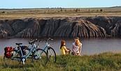Am entstehenden Großräschener See, Foto: Tourismusverband Lausitzer Seenland / Nada Quenzel
