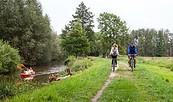 Radfahrer auf der Heuschobertour, Foto: Peter Becker