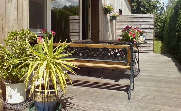 Pension zum Wiesengrund Terrasse