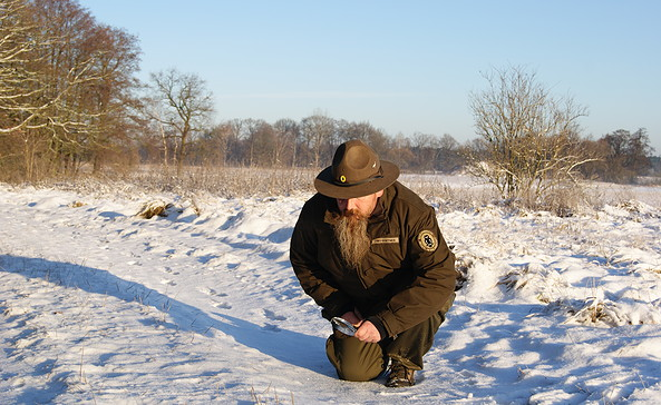 Spurensuche im Winter, Foto: Naturwacht/UweAlbrecht