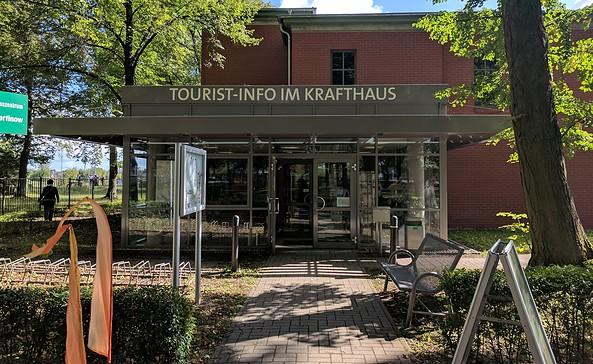Touristinformation im Krafthaus am Schiffshebewerk Niederfinow, Foto: TAB