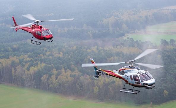 Hubschrauber AS355 und AS350