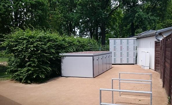Gepäckschließfächer und Fahrradboxen am Ostdeutschen Rosengarten Forst (Lausitz), Foto: Stadt Forst (Lausitz)