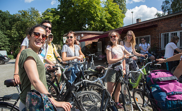 pedales-Fahrradstation im Bahnhof Griebnitzsee