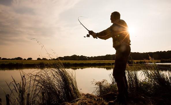 Angler im Seenland Oder-Spree, Foto: Florian Läufer