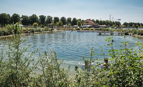 Naturerlebnisbad Großbeeren - Badesee, Foto: Wasserskilift in Großbeeren GmbH