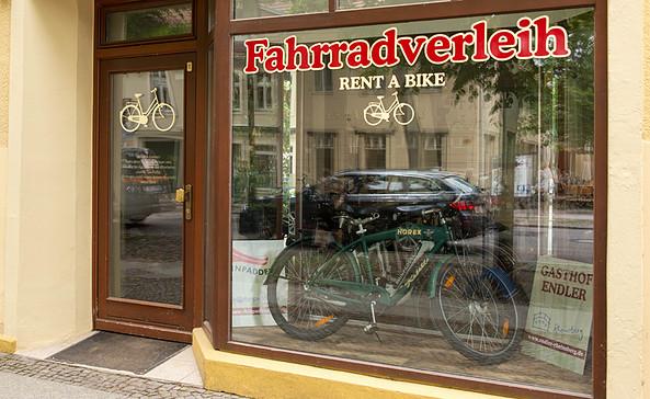 Fahrradverleih Schlossstraße 1/ Gasthof Endler Mühlenstraße 14, Foto: Andreas Endler