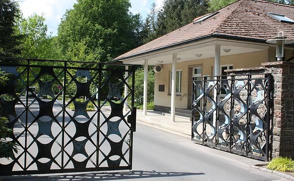 Eingangstor Waldsiedlung Wandlitz, Foto: ZZF / Hans - Hermann Hertle