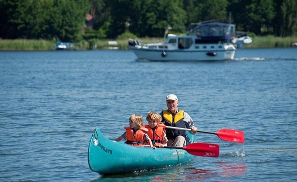 Drei Seenrundfahrt, Kanu, Foto: Ingrid Dentler