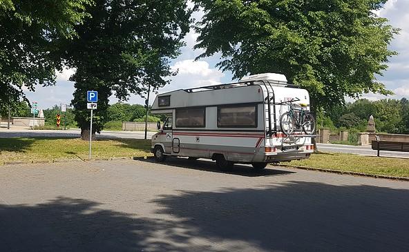 Wohnmobilstellplatz am Gutenbergplatz, Foto: Diana Priel