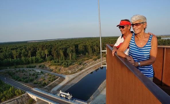 Ausblick von der Landmarke Lausitzer Seenland, Foto: Nada Quenzel