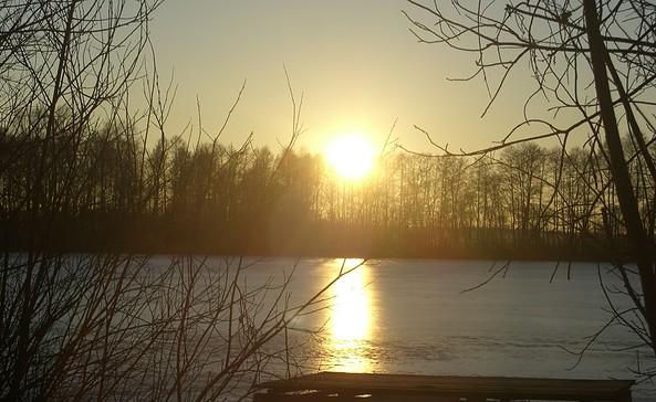 Sonnenuntergang am Rammoltsee, Seelenheil auch an kalten Tagen; Foto: TEG