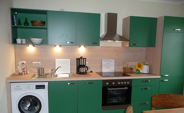 Küche in der Ferienwohnung am Bahnhof in Weisen