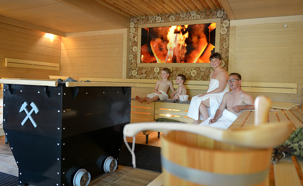 Bergmann-Sauna im Sauna & Freizeitbad Lauchhammer, Foto: Stadt Lauchhammer