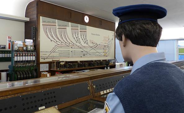 Schalttafel des historischen Stellwerks, Foto: Jörg Pawlitzke
