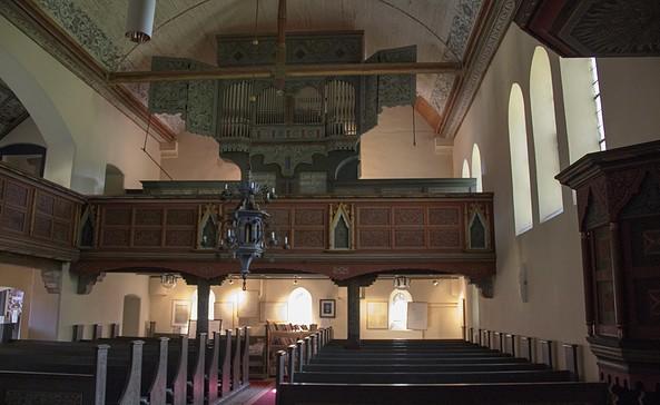 Innenansicht der Evangelischen Kirche Kagar, Foto: ScottyScout