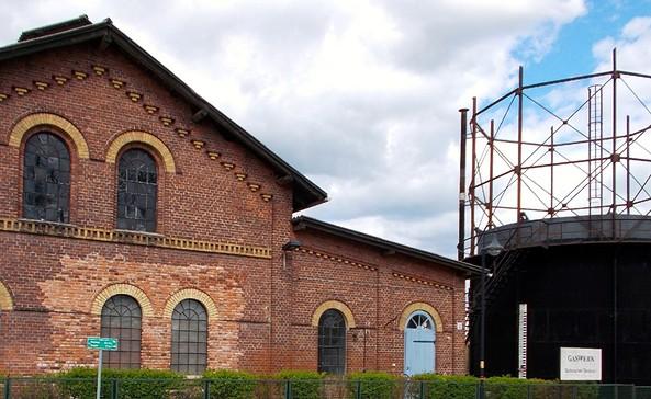 Technisches Denkmal Gaswerk Neustadt (Dosse) - Blick in das Ofenhaus