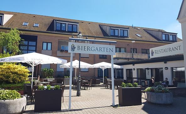 Biergarten im Komforthotel Großbeeren, Foto: KomfortHotel
