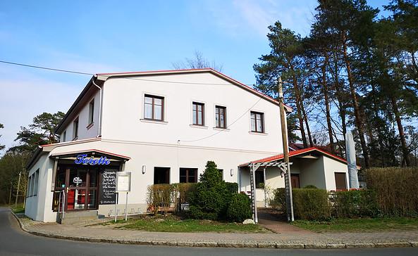 Das Gasthaus und Pension Forelle am Bahnhof Wilhelmshorst, Foto: Tourismusverband Fläming e.V.