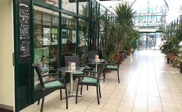 Café Amadeus in der Grünen Passage in Blankenfelde; Foto: Tourismusverband Fläming e.V.