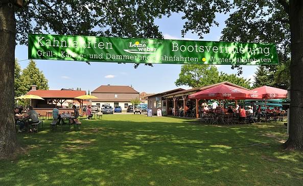Biergarten, Foto: Bootshaus am Leineweber