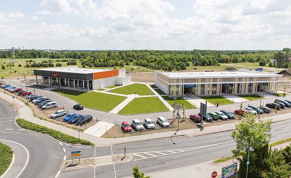 Außenansicht Marken Outlets Schwarzheide Mitte, Foto: SJ International Outlet Management GmbH