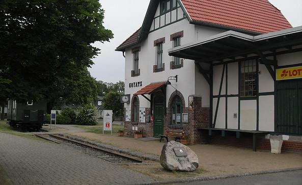 Der Bahnhof in Goyatz ist als Ausgangspunkt nutzbar, Foto: TEG