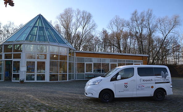 Kranich-Express am Naturparkzentrum, Foto: Stadt Trebbin