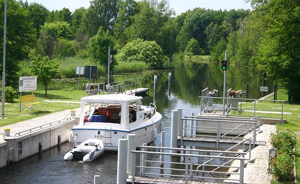 Schleuse Hermsdorfer Mühle, Foto: Tourismusverband Dahme-Seen e.V.