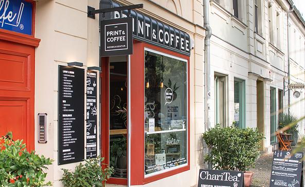 Print & Coffee in der Lindenstraße, Foto: PMSG