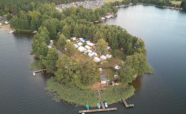 der Campingplatz auf der Halbinsel, Foto: Campingplatz am Wolletzsee