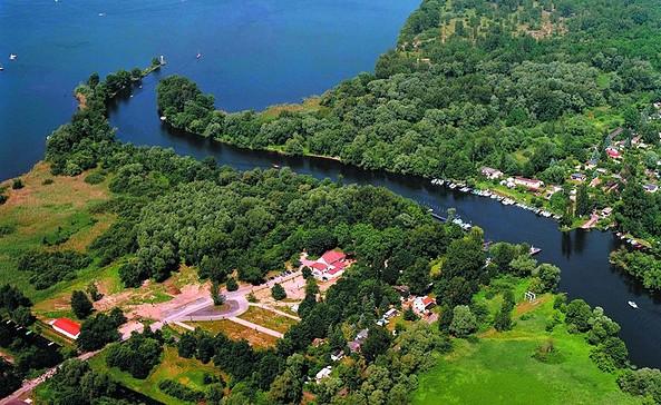 Luftaufnahme Restaurant Buhnenhaus, Foto: Buhnenhaus