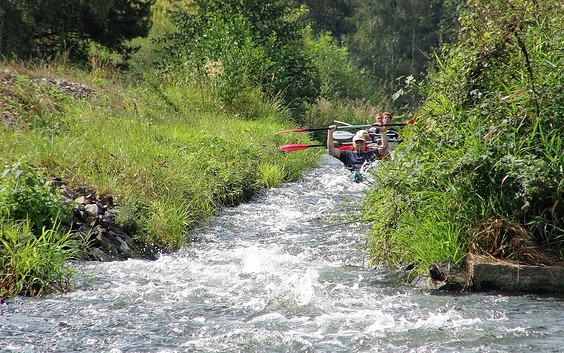 Water touring on the River Spree: from Cottbus to Burg (Spreewald)