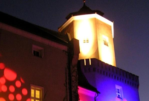 Schloss Spremberg beleuchtet in der Museumsnacht