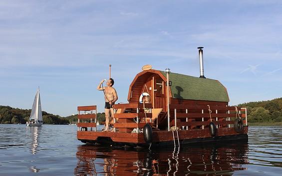 Sauna Raft on Lake Werbellinsee