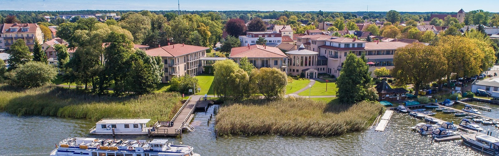 View from the water, photo: Seehotel Rheinsberg