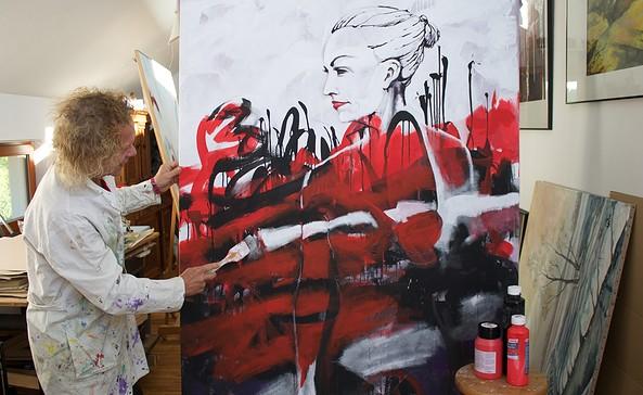 Kunstatelier Olaf Haugk in Schöneiche bei Berlin, Foto: Alexandra Pohnke