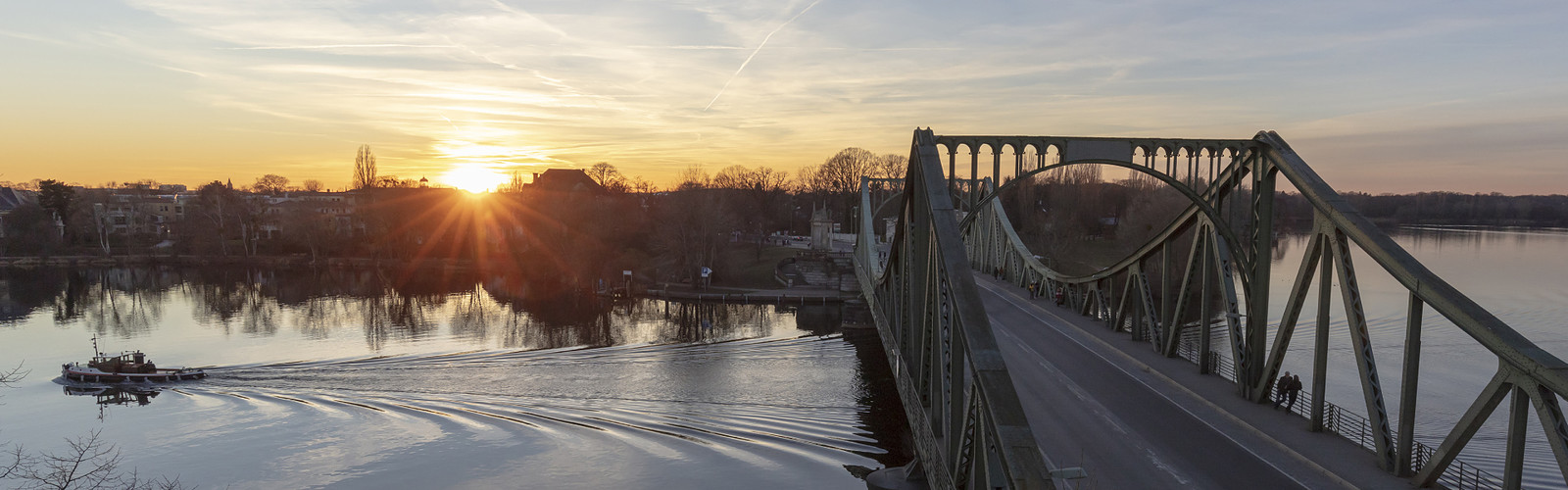 Sonnenuntergang Glienicker Brücke , Foto: André Stiebitz , Lizenz: PMSG