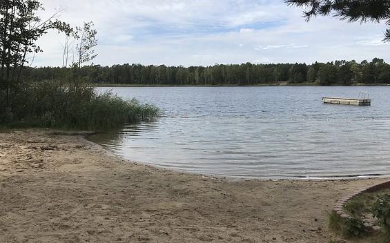 Großer Vätersee Badestelle am Feriendorf Groß Väter See