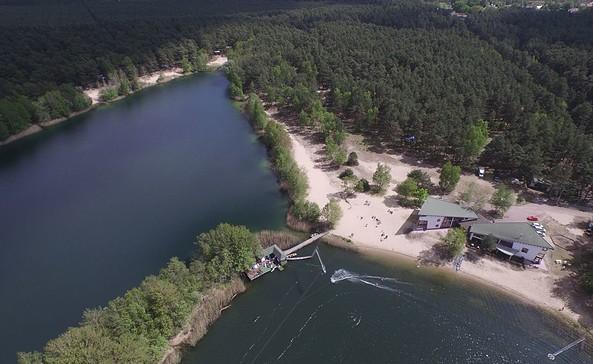 Der Ruhlesee - Luftaufnahme, Foto: wake-and-camp