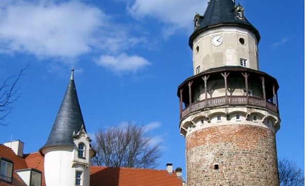 Der Turm von Schloss Wiesenburg, Foto: TMB-Fotoarchiv/Wieck