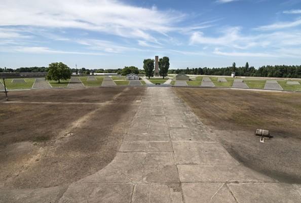 Gedenkstätte und Museum Sachsenhausen: Blick auf das ehemalige Häftlingslager, 2012, Foto: Stiftung Brandenburgische Gedenkstätten, Friedhelm Hoffmann