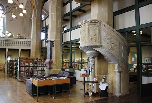 Stadtbibliothek im Mönchenkloster Jüterbog, Foto: TV Fläming e. V./ A. Stein