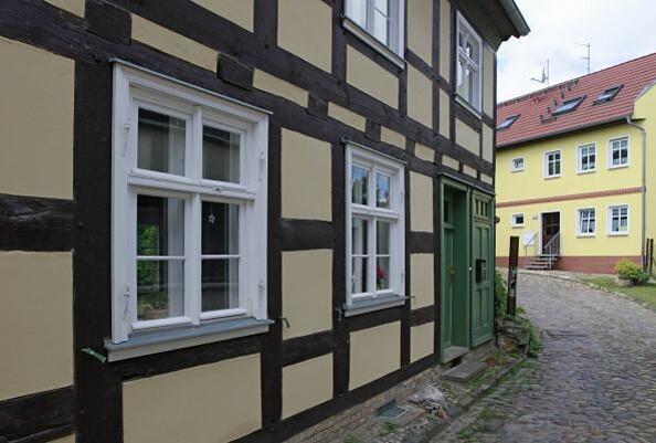 Blick auf die Fassade eines Fachwerkhauses © Henry Mundt