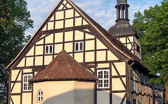 Fachwerkkirche in Milow