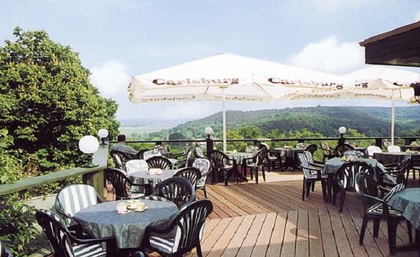 Blick von der Panoramaterasse © Panoramarestaurant Carlsburg