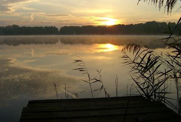Sonnenuntergang über dem Wandlitzsee, Foto: TV Naturpark Barnim e.V.