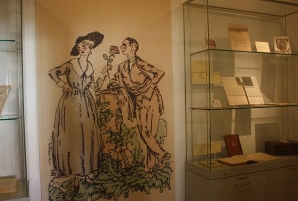 Claire und Wölfchen im Kurt Tucholsky Literaturmuseum